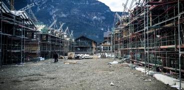 Bau von 21 Häusern für ein Hotel in Garmisch-Partenkirchen