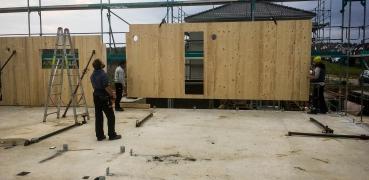 Mehrfamilienhaus in Hybridbauweise